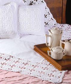 Красивая обвязка скатерти и подушки. Вязание крючком (1) (530x627, 238Kb)