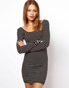 Dress like Santana Lopez: american apparel bodycon striped dress $59 from ASOS