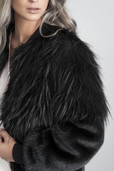 Kate Faux Fur Bomber Jacket