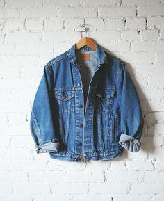 Big baggy jean jacket.