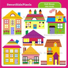 Doll House - Digital Clip Art - Instant Download