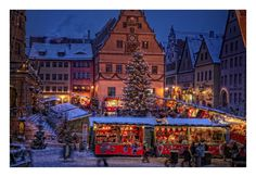 8 DAY ROMANTIC ROAD CHRISTMAS SELF-DRIVE TOUR Christmas along the Romantic Road is a very special time of year. The season can best be experienced by visiting the medieval cities along the route. Visit the Christmas Markets in Wurzburg, Rothenburg ob der Tauber, Nuremberg, Bamberg, Nordlingen, Augsburg and the famous Castle of Neuschwanstein!