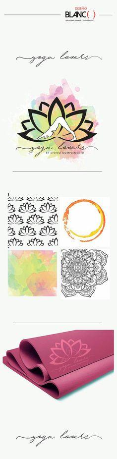 Diseño de imagen corporativa para Yogalovers, por Diseño Blanco