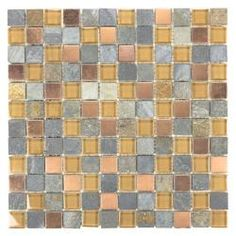 ICL Glass Stone Mix Tiles (Case of 11)