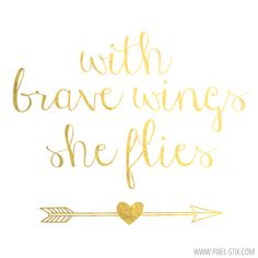 FREE Gold Foil Wallpaper for your Iphone! With brave wings, she flies.