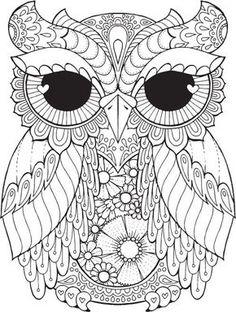 Kurby Owl - Farbe mit Me Hallo ANGEL - Malbücher, Gestaltung, detaillierte, Meditation, coloring für gewachsen USV, Eule, Niedlich, Malbücher für Kinder