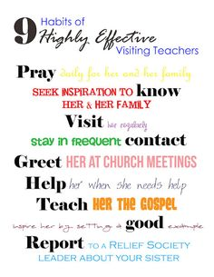 mish mash mom: April Visiting Teaching Message