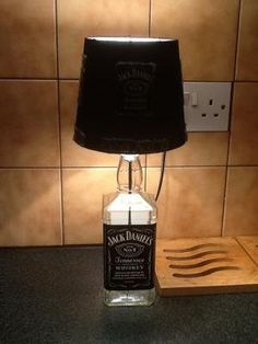 #Jack Daniels Lamp, Hand Made Jack Daniels lamp, Perfect for your home, dorm room, man cave, or bar/pub.