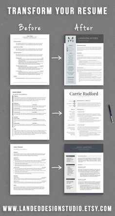 Completely Transform Your Resume For $15 With A Professionally Designed  Resume Template. Good Resume ExamplesProfessional ...  Examples Of A Professional Resume