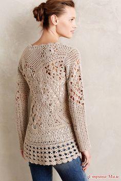 Crazy friformovy πουλόβερ κροσέ μαλακό τουίντ. - Πλέξιμο - Χώρα Μαμά
