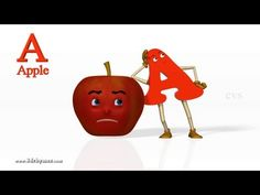 A for Apple Nursery rhymes 2 - 3D Animation Learning Alphabet ABC Songs for children