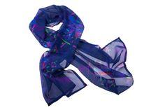 Silk scarf100 Silk Georgette Deep Blue luxurious by Elsabydesign, £45.00