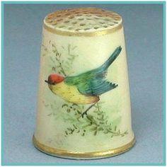RARE ROYAL WORCESTER BIRD THIMBLE CIRCA 1880's | eBay /  £175.00