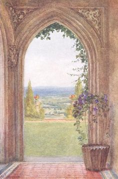 From the Porch, Aldworth - Helen Allingham