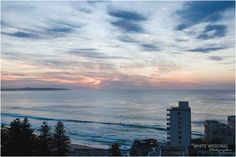 morning sunrise on Anne-Maree's wedding day getting ready photo at Cronulla Rydges Hotel overlooking North Cronulla Beach What a view!