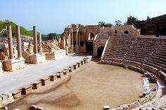 Scythopolis, ancient Roman archaeological site in Beit She'an, Israel
