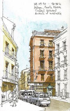 Málaga, Puerta Nueva by Luis_Ruiz, via Flickr