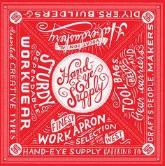 Hand-Eye Supple Bandana by Mary Kate McDevitt