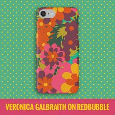 One of my favourites iPhone cases on my Redbubble shop... Just in case you have someone this Christmas that might like a bit of bold and bright floweriness! Find me at http://www.redbubble.com/people/verogalbraith