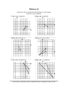 Worksheet Dilations Worksheet geometry worksheets and on pinterest worksheet dilations