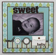 -Sweet Baby Boy Scrapbook Layout