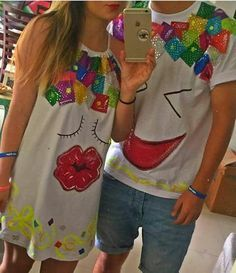 Pin by angela hernandez on carnaval party Shirts With Sayings, Fabric Painting, Glamour, T Shirts For Women, Womens Fashion, Party, How To Wear, Outfits, Dresses