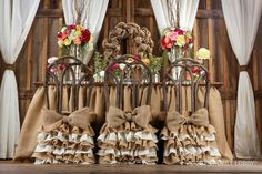 Burlap wedding