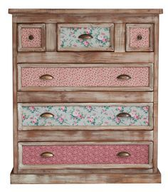 Painting wood dresser projects 37 Ideas for 2019 Decoupage Furniture, Hand Painted Furniture, Funky Furniture, Refurbished Furniture, Paint Furniture, Repurposed Furniture, Shabby Chic Furniture, Shabby Chic Decor, Furniture Projects