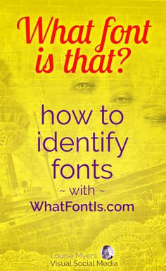 Design tips: Ever look at type and wonder, What font is it? Perhaps you found a typeface that's perfect for your branding. Click to learn the easy way to identify fonts! #brandingtips #graphicdesign #visualmarketing #marketingtips #fontstyles #fontswelove #smallbusinesstips