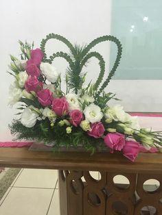 Valentine's Day Flower Arrangements, Tropical Floral Arrangements, Flower Arrangement Designs, Flower Centerpieces, Church Flowers, Funeral Flowers, Deco Floral, Arte Floral, Blue Wedding Flowers