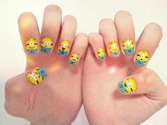 minions uñas , minions nails