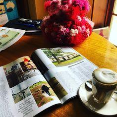 Morning coffee with @austtraveller magazine. OMG were in it! Lovely story on #portfairy by @tourdeclance  #weekendgetaway #greatoceanroad #bedandbreakfast #heritageinn by merrijigkitchen