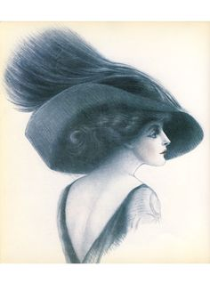 'A design featured in Hats in Vogue Since 1910 by Christina Probert, p.6.'