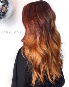 Long Red Ombre Hair