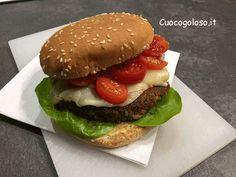 hamburger vegano con lenticchie e verdure