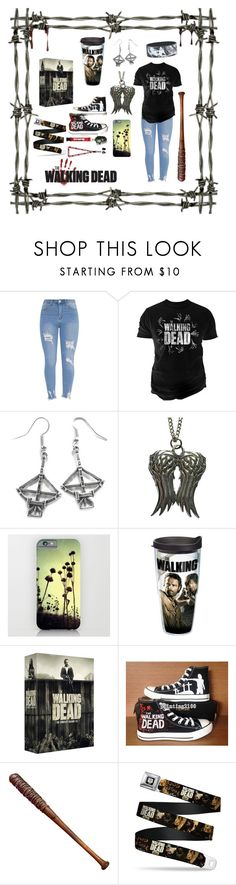 """""""The Walking Dead Outfit"""" by tessamyerswolf ❤ liked on Polyvore featuring Changes, Hot Topic, Tervis, Converse and Lucille"""