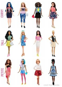 The new Barbie Fashionista line featuring dolls with curvy, tall and petite body types, with the wardrobe to match. Would you buy them?: