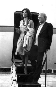 Sophia Loren, Richard Burton, 1974 Aeropuerto de Fuenterrabía, Festival Internacional de Cine de San Sebastián