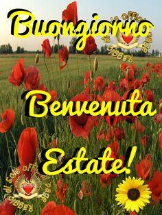 Buongiorno, Benvenuta Estate! #estate