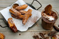 Vegan Mexican hot chocolate and churros