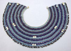 Beadwork has been a major form of aesthetic expression in southern Africa for nearly 200 years. Among the many diverse ethnic groups of the region, the Xhosa peoples have an especially rich tradition of beaded regalia Beaded Collar, Collar And Cuff, Collar Necklace, Beaded Necklace, Necklaces, African Trade Beads, African Jewelry, Ancient Egyptian Jewelry, Xhosa