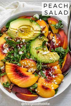 Easy Summer Meals, Healthy Summer Recipes, Healthy Meal Prep, Easy Meals, Can Peaches Recipes, Peach Recipes Dinner, Avocado Recipes, Veggie Recipes, Salad Recipes