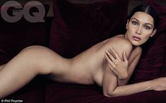Letting it all hang out: Bella Hadid has stripped off completely naked for GQ's latest issue