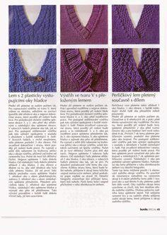 POLLA ŠKOLA PLETENÍ – polla – album na Rajčeti Drops Design, Knitting Stitches, V Neck, Lace, Sweaters, Blog, Women, Crafts, Fashion