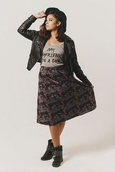 Holly Tea Skirt ★available at www.livingdoll.la// logan cole photography. plus size clothing!