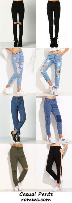 casual pants 2017 - romwe.com