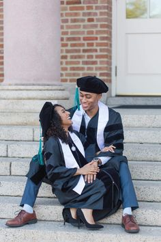 On May I graduated from Hampton University with my Doctor of Physical Therapy degree. I had the pleasure of going through PT School with my amazing boyfriend, Julian. Couple Graduation Pictures, Graduation Picture Poses, College Graduation Pictures, Graduation Portraits, Graduation Photography, Graduation Photoshoot, Grad Pics, Couple Senior Pictures, Grad Pictures