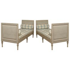 Pair of Swedish daybeds, Gustavian Period