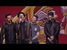 Fall Out Boy win the APMA for Artist Of The Year -- Go strait to three minutes and 50 seconds and you find that thanks Pete lol XD