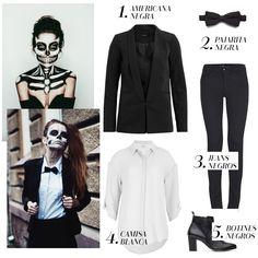 Disfraz esqueleto halloween. Ideas y turoriales para Halloween